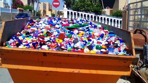 Recogida tapones de plastico en barcelona