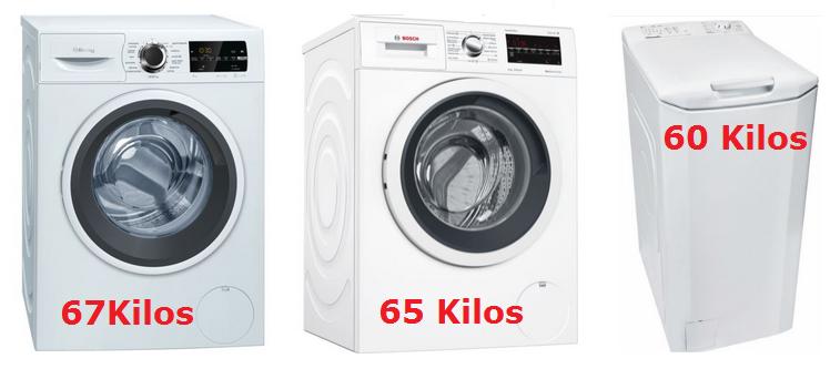 ¿cuánto pesa una lavadora? Diferentes lavadoras