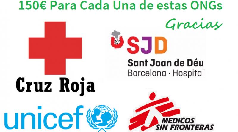 Donativo de 600€ para Varias ONGs