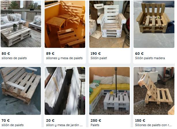 Muebles con Palets en Wallapop